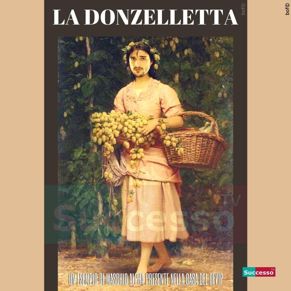 le cartoline di successo tv 2020 Gfvip Andrea Zelletta La donzelletta